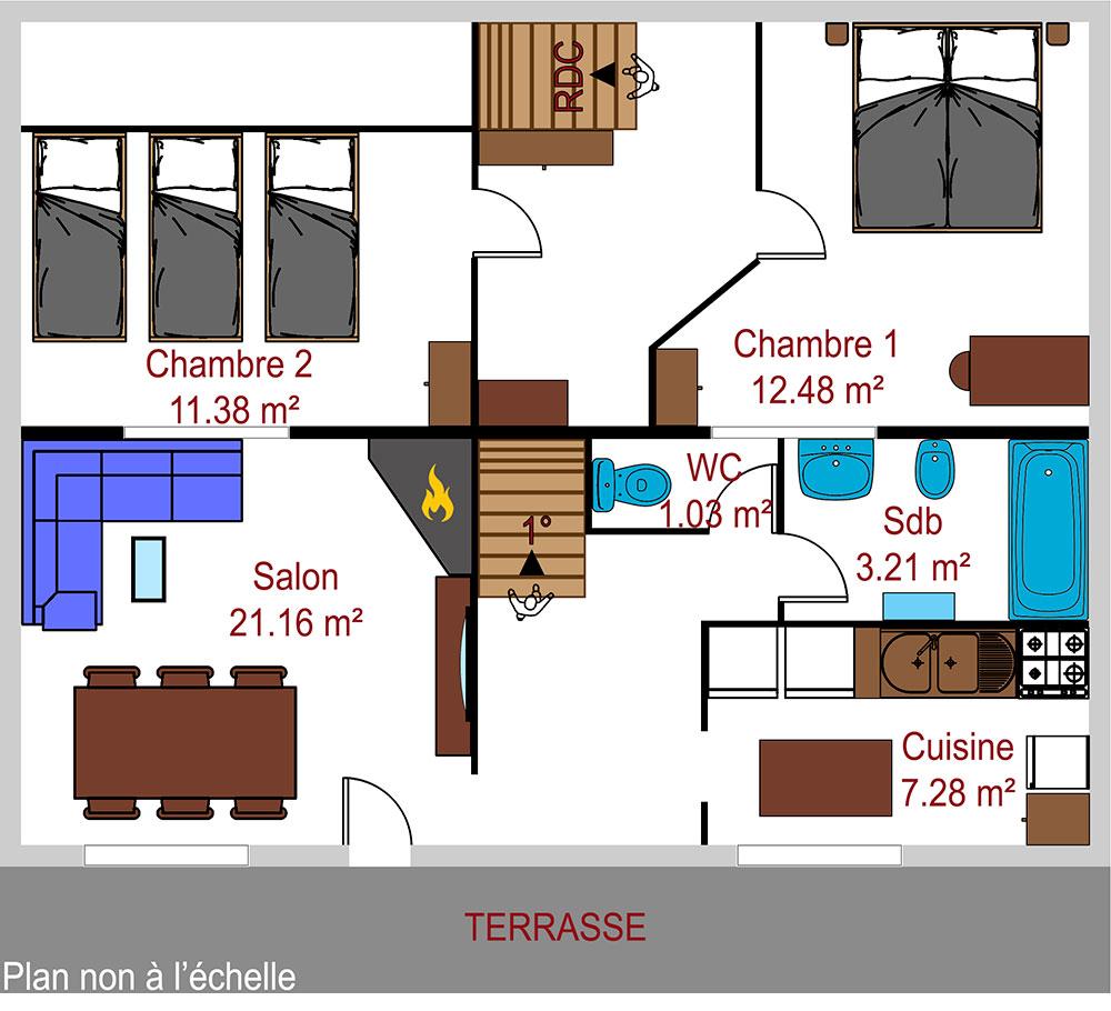 Plan appartement Le Chatelet